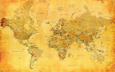large LAMINATED WORLD MAP Poster Wall Chart new political atlas latest 36 i