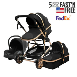 Baby Stroller Set 3 in 1 Newborn Infant Bassinet Travel System with CarSeat New