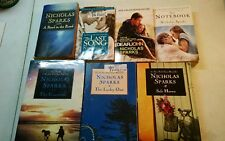 LOT OF 7 NICHOLAS SPARKS BOOKS, DEAR/GUARDIAN/LUCKY ONE/SAFE/LAST SONG/ (BIN01)