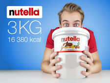 NUTELLA 3Kg Jar Bulk Pail Tub Ferrero Hazelnut Chocolate Cocoa Made in Italy