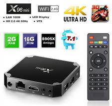 X96 Mini Android 7.1.2 TV Box 2gb 16gb S905w QuadCore H.265 HD Media Player S8h3