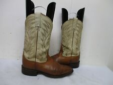 NOCONA Brown Leather Cowboy Boots Womens Size 6.5 B Style 7717391710 USA