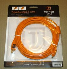 NEW Tether Tools TetherPro USB 2.0 Type-A Male to Mini-B Male Cable (15' Orange)