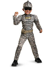 Combat Warrior Camoflauge Army Solider Muscle Chest Jumsuit Costume-3T-4T