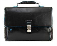 Piquadro Blue Square Expandable Computer Briefcase Aktentasche Herren Neu