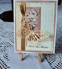 PARA MI MADRE ~ SPANISH FOR OUR MOTHER  HANDMADE CARD -BUTTERFLY