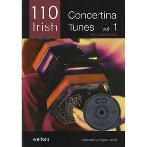 110 Best Irish Concertina Tunes Volume 1 (Melody & Chords) Book & CD