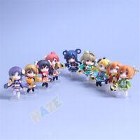 9pcs/set Anime Lovelive! Kotori Minami Kimono Ver. Mini Figure Model Toys