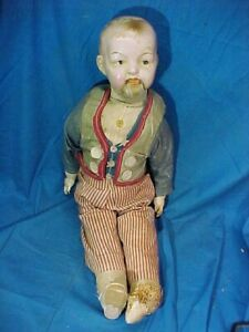 """1920s UNCLE SAM Composition LYF-LYK 20"""" DOLL by Madame HENDREN"""