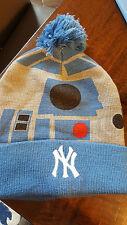 2016 NEW YORK YANKEES STAR WARS R2-D2 WINTER KNIT HAT CAP 8/15/16 STADIUM SGA