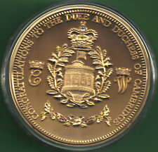 2013 24ct Gold Plated Royal Baby [Prince George] Commemorative Medallion 88mm