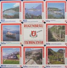 Bierdeckel Serie Sammlung - Schweiz - Rugenbräu Interlaken - BLS 8 verschiedene