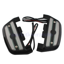 Lighted Passenger Footboard floorboard Black Cover For Harley Touring Softail