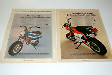 2 1971 Vintage Advertisement Print Art Ad Poster Suzuki Trailhopper Minibike