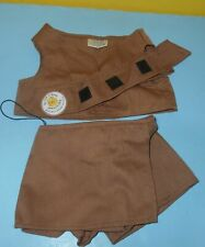 Build a Bear 3 Piece Girl Scouts Brownies Clothing Outfit Skorts Vest Sash