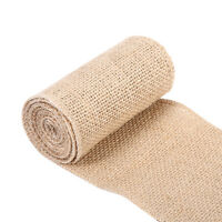 Lace Table Runner Hessian Jute Burlap Roll Vintage Wedding Party Chair Decor AF