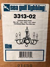 KICHLER POLISHED BRASS (5 CANDELABRA LIGHT) HANGING CHANDELIER 3313-02