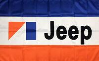 Jeep Logo Flag 3x5 ft Banner CJ5 CJ7 AMC Cherokee Wagoneer J10 J20 Renegade New