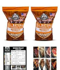 Two Pack or Single, Texas Mesquite Hardwood BBQ Grilling Smoking Pellets 20 lbs