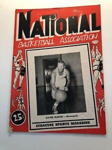 Minneapolis Lakers vs. Syracuse Nationals - NBA Program 1952