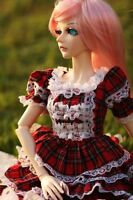 [wamami] 1/3 Red Grid Dress/Suit/Outfit/Clothes For SD AOD DZ BJD Dollfie