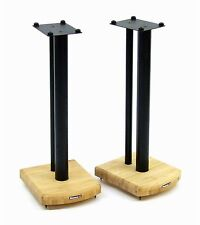 Atacama Moseco 6 Speaker Stands 600mm Satin Black and Natural Bamboo (Pair)