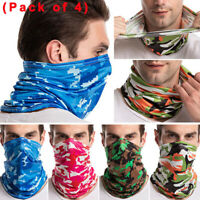 4× Camouflage Biker Tube Bandana Face Scarf Cover Headwrap Neck Gaiter Balaclava