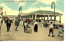 People-Esplanade Review-Boardwalk-Asbury Park-New Jersey-1911 Vintage Postcard