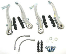 Alloy V Brakes - Quality Bike Brake Arms Calipers + Extras - SILVER - RRP£19.99