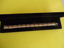 "14 k Gold 6.0 CWT /300/ VS 1 Diamonds Bracelet 7.0"" Long - 23.3 Grams Made Italy"