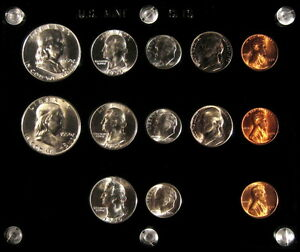 1950 P,D&S U.S. COINS GEM UNCIRCULATED SILVER MINT SET!