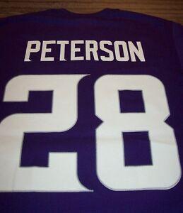 MINNESOTA VIKINGS #28 ADRIAN PETERSON NFL FOOTBALL T-Shirt XL NEW w/ TAG