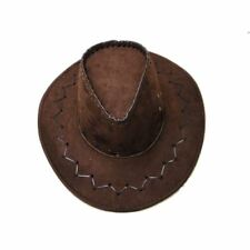 Men's Cowboy Spurs Cigar Bandana Hat Badge Wild West John Wayne Fancy Dress Gun Set