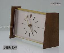 DESIGN -- KIENZLE AUTOMATIC TISCHUHR ca. 60er Jahre -- METALL HOLZ -- elektrisch