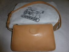 New Quality Leather Honey Coloured Handbag by Carriage in dust bag