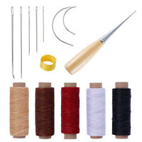 14Pcs Leather Craft Tool Waxed Thread Cord Sewing Needles Shoe Repair Kit TooYAN