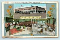 San Fernando Valley, CA - PORTER HOTEL MULTIVIEW & OLD CARS - ROADSIDE POSTCARD