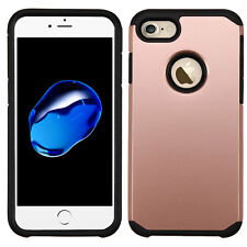 HYBRID TPU ROSE GOLD flexible & hard CASE for IPHONE 7 & 8 USA SELLER