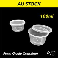 100ml Plastic Dipping Sauce Disposable Small Container Cups Lids Takeaway Jelly