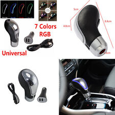 7 Colors RGB LED Light Touch Activated Sensor Car SUV Gear Shift Knob USB Charge