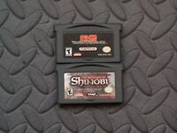 Lot Nintendo Game Boy Advance GBA Games Tekken Advance + The Revenge of Shinobi
