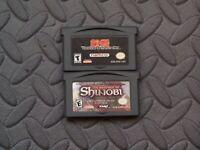 Lot Nintendo Game Boy Advance GBA Games Tekken Advance + The Revenge of Shinobi