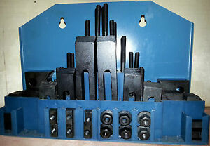 58pc. Clamping Kit for MIlling / Drilling  - 14mm T-Slots - 12mm Studs