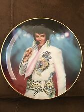 """""""The King"""" Elvis Presley """"the Legend"""" jeweled Plate #9111A"""