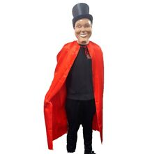 Long Red Cape Vampire Halloween Fancy Dress Magician Costume Scary Sale UK