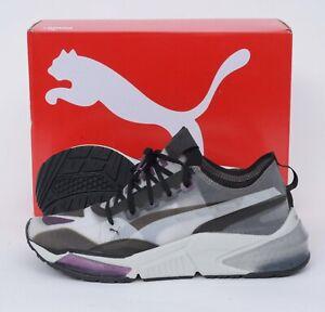 NIB PUMA LQDCELL Optic Sheer Gray Black Purple Retro Training Shoes 9 (EU 42)