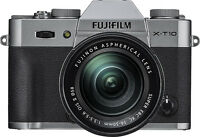 Fujifilm - X-T10 Mirrorless Camera with XC 16-50mm f/3.5-5.6 OIS II Lens - Si...