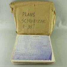RARE Schweizer  SGS 1-35 Glider Sailplane plans blue print blueprint