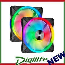 Corsair QL140 RGB Dual Fan Kit with Lighting Node Core, ICUE, 140mm RGB LED PWM