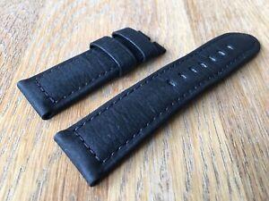 OFFICINE PANERAI OEM 24mm BLACK BUFFALO STRAP FOR TANG BUCKLE